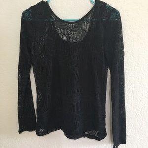 Armani exchange net long sleeves top